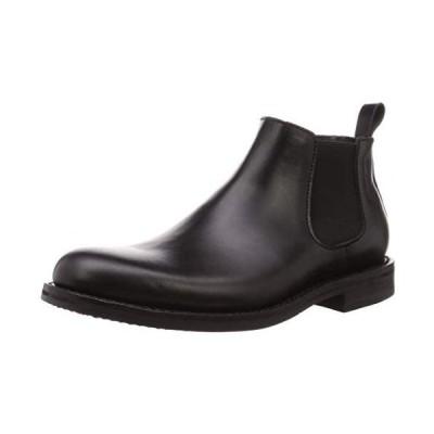 [ソースタント] ブーツ グッドイヤーウエルト製法 本革サイドゴアブーツ メンズ SS-604 (BK 25.0 cm 3E)
