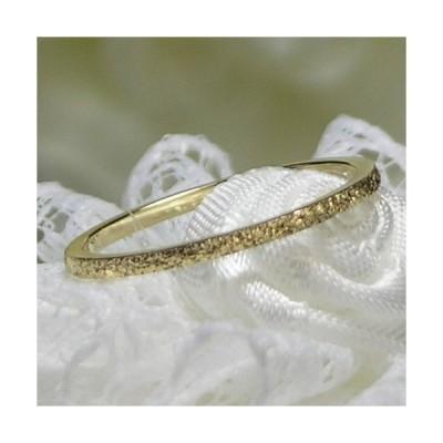 K10ゴールド シンプルピンキーリング 小指の指輪 ファランジリング 関節リング ミディリング Marea rich マレア リッチ GD-11KJ-35-38