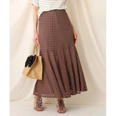 Couture Brooch/クチュールブローチ クロシェマーメイドスカート タバコブラウン(054) 42(LL)