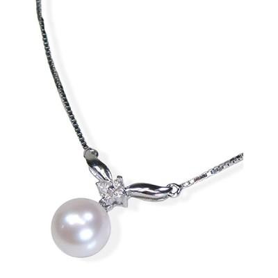本真珠ダイヤモンド・揺れるドレス・ネックレス誕生石6月ジュエリー日本製ギフトラッピング済み
