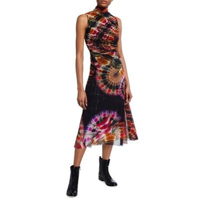 フィッジ レディース ワンピース トップス Chakra Print Turtleneck Sleeveless Midi Dress