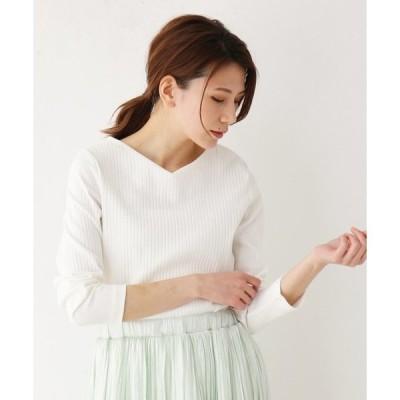tシャツ Tシャツ 【M-L】Vネックスーピマコットン混カットソー