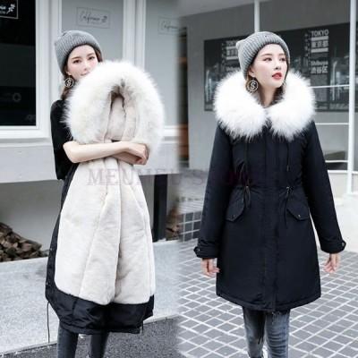 中綿コートレディース40代30代ロング丈軽い冬服厚手アウターダウン風コート中綿ジャケットパーカーフード付き暖かい大きいサイズスリム防寒OL