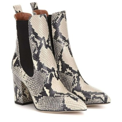 パリ テキサス Paris Texas レディース ブーツ ショートブーツ シューズ・靴 snake-effect leather ankle boots Natural