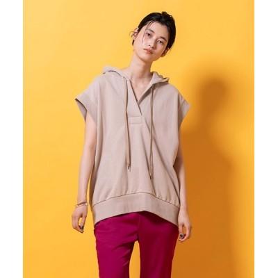 tシャツ Tシャツ フレンチスリーブ裏毛フードパーカー