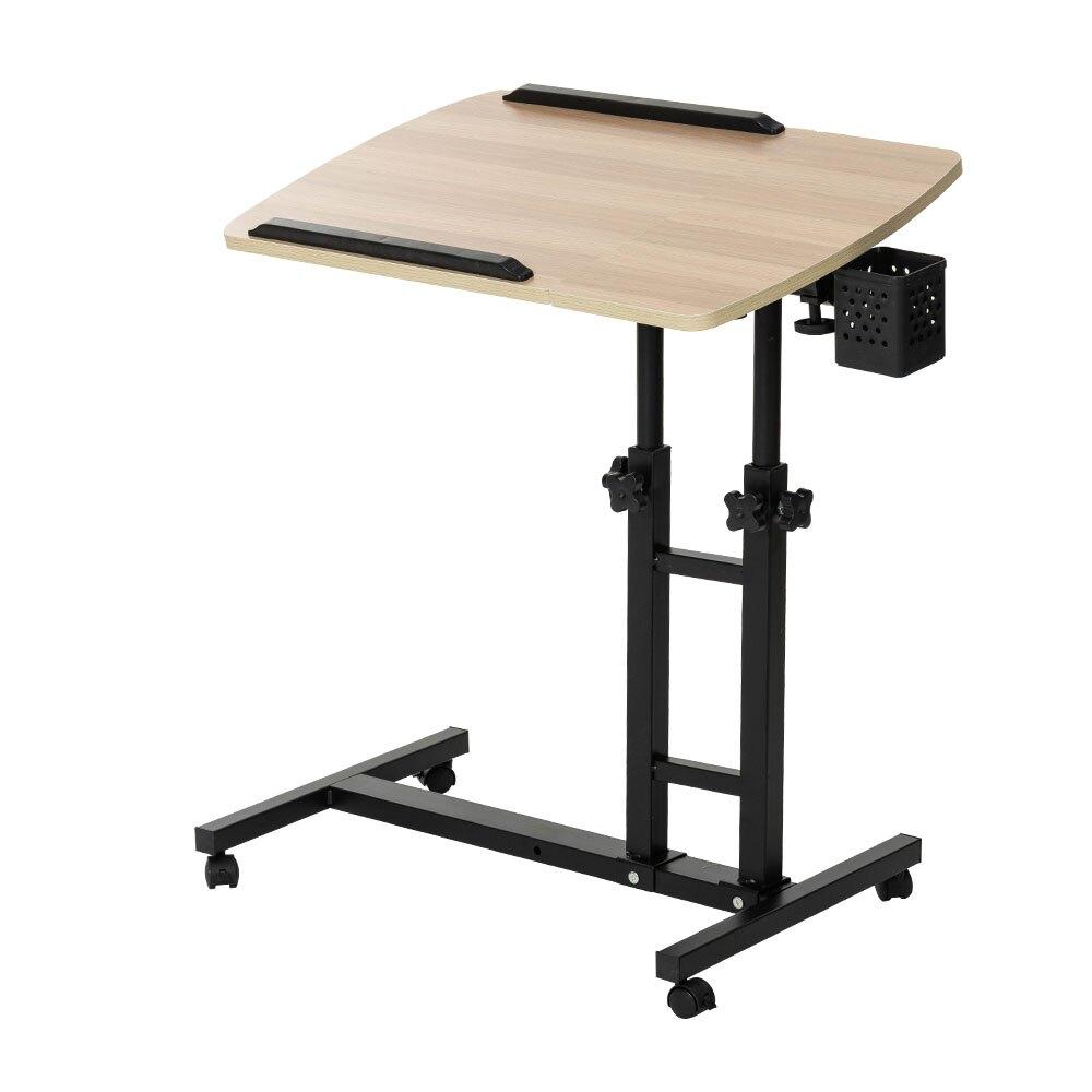 大理石款/木紋款 360度床邊雙升降工作電腦懶人桌 邊桌 升降桌 工作桌 書桌 客廳桌 筆電桌【A013】