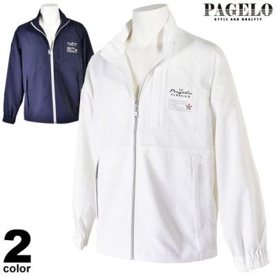 大きいサイズ PAGELO パジェロ ジップアップブルゾン メンズ 春夏 ロゴ刺繍 シンプル 03-3124-071
