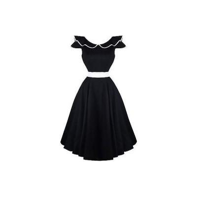 ハーツアンドローズロンドン ドレス ワンピース ハートs ローズs London ブラック Flute Collar 1950s ビンテージ パーティ Prom ドレス