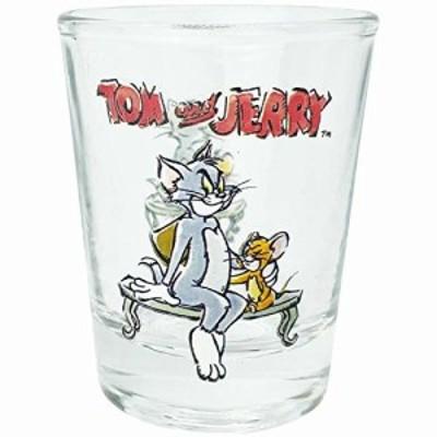 「 トムとジェリー 」 ミニグラス 50ml ベンチ 日本製 SAN3653-7