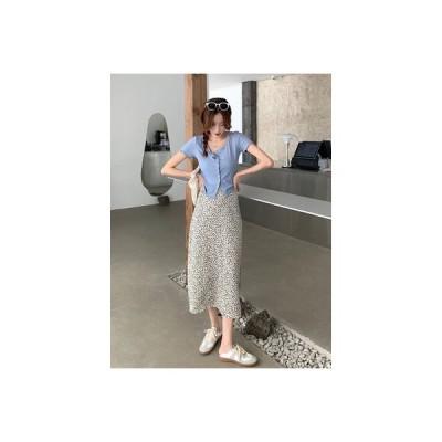 【送料無料】夏 韓国風 何でも似合う レジャー 着やせ 半袖Tシャツ ウエストスプリ | 364331_A63287-9264181