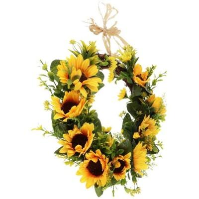 フラワーリース ひまわりの花輪 ウェディング 引っ越し祝い 新築祝い 装飾 ドアの花輪