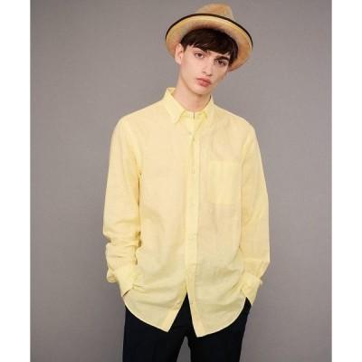 シャツ ブラウス 【洗える】綿/麻交織シーチングシャツ
