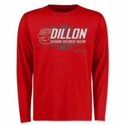 Fanatics Branded ファナティクス ブランド スポーツ用品  Austin Dillon Red Burn Rubber Long Sleeve T-Shirt