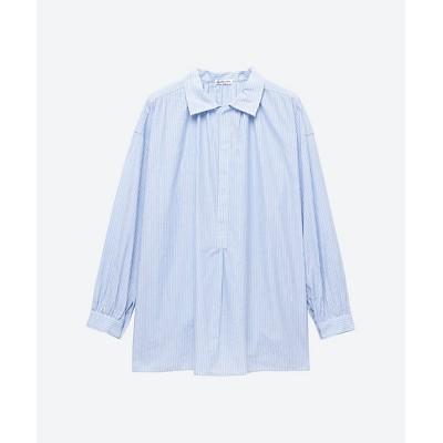 <ORCIVAL(Women)/オーシバル> 大きいサイズ O.ドビーシャツブラウス BLUE STRIP【三越伊勢丹/公式】