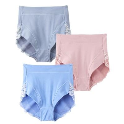 綿混ストレッチお腹&ヒップサポートショーツ3枚組(L) サポート・シェイプショーツ, Panties
