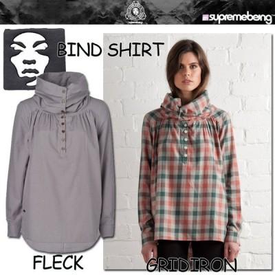 SUPREMEBEING (シュープリーム ビーイング) BIND SHIRT(バイン シャツ) ハイネックシャツ