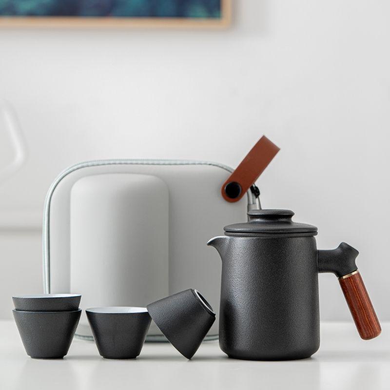 快客杯 快客杯一壺四杯便攜式旅行茶具套裝收納包功夫茶具小套陶瓷定制