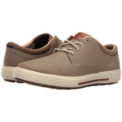スケッチャーズ メンズ スニーカー シューズ・靴 Classic Fit Porter - Zevelo Khaki Canvas