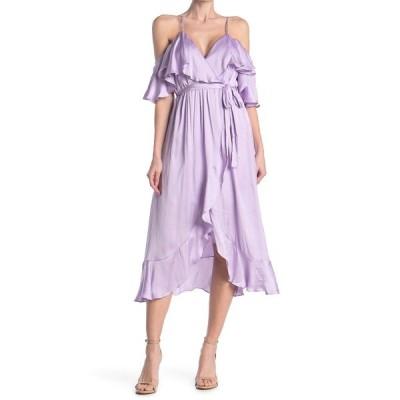 バードット レディース ワンピース トップス Bea Cold Shoulder Ruffle Dress PASTEL LIL
