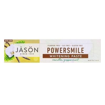 PowerSmile(パワースマイル)、アンチプラーク&ホワイトニング歯磨き粉、バニラパワーミント、170g(6oz)