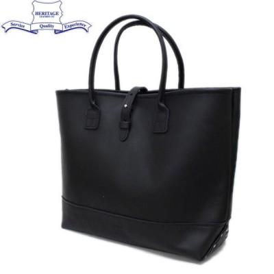 HERITAGE LEATHER CO.(ヘリテージレザー) NO.7955ST Mocassin Leather Tote Bag(レザートートバッグ) Black/Black HL053