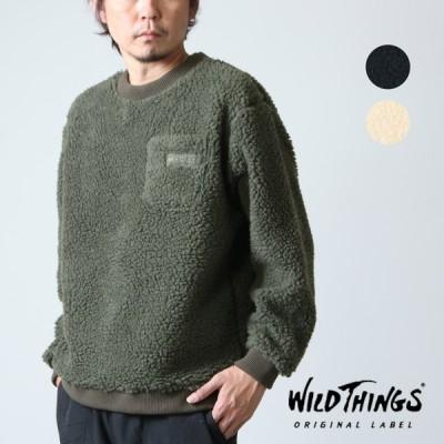 【20% OFF】WILD THINGS (ワイルドシングス) FLUFFY BOA L/S CREW / フラッフィー ボア ロングスリーブ クルー