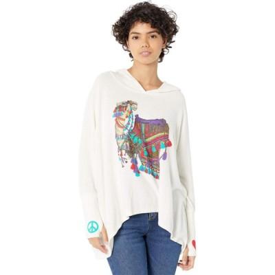 ローレンモシ Lauren Moshi レディース トップス Wilma Peace Love Camel Silk