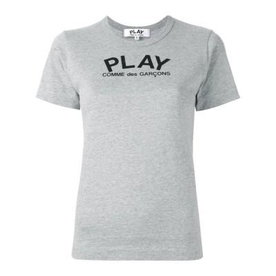 プレイコムデギャルソン レディース グレーバックロゴハートTシャツ PLAY COMME DES GARCONS AZ-T071-051-1