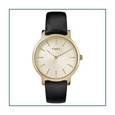 【新品】Timex レディース メトロポリタン 34mm 腕時計 ブラック/ゴールドトーン/ホワイト。【並行輸入品
