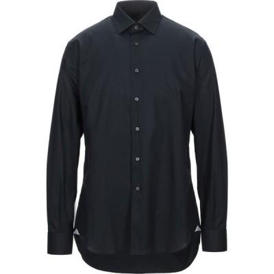 デルシエナ DEL SIENA メンズ シャツ トップス Solid Color Shirt Black