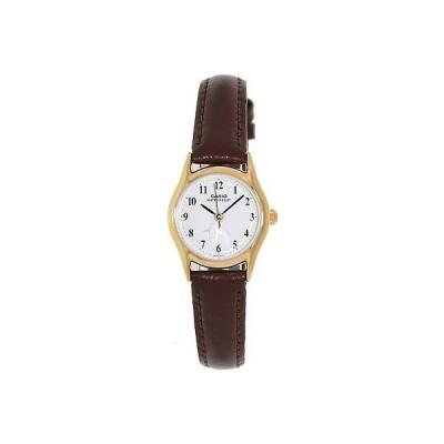 カシオ 腕時計  Casio LTP1094Q-7B6 レディース カジュアル アナログ レザー 腕時計 ゴールド ケース w/ Pinguins