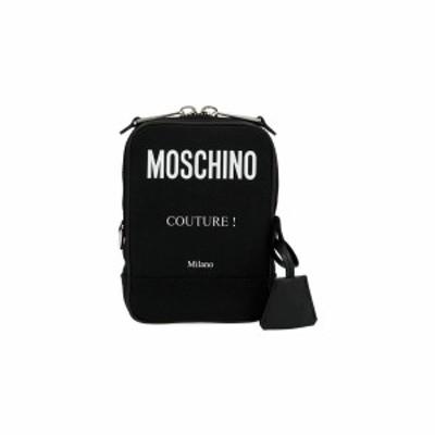 MOSCHINO/モスキーノ Black   Label' messenger crossbody bag  メンズ 秋冬2021 A742582012555 ju