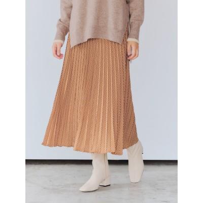 ジオメ柄ラインプリーツスカート