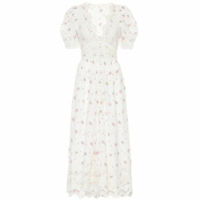 ラブシャックファンシー LoveShackFancy レディース ワンピース ワンピース・ドレス Stacy floral cotton midi dress French Cream