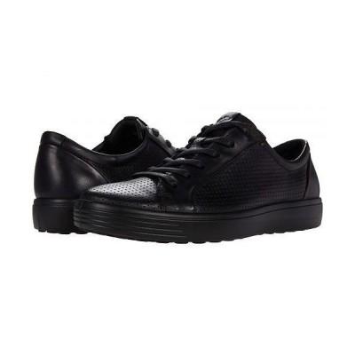 ECCO エコー メンズ 男性用 シューズ 靴 スニーカー 運動靴 Soft 7 Perforated Luxe Sneaker - Black