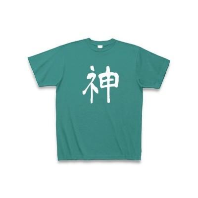 ネ申 Tシャツ Pure Color Print(ピーコックグリーン)