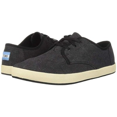 TOMS Paseo メンズ スニーカー 靴 シューズ Black Washed Canvas