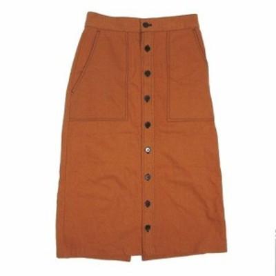 【中古】ティティベイト titivate ステッチデザインタイトスカート ロング丈 ボトムス 茶色 ブラウン サイズL