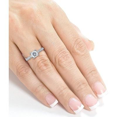 Kobelli Princess Moissanite Square Shank Trellis Engagement Ring 1 1/1