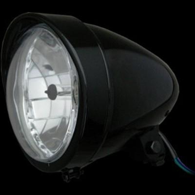 ネオファクトリー 5-3/4インチ バイザーバレットヘッドライト H4 ブラック 008334 WO店