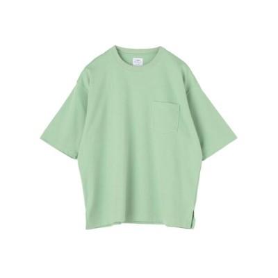 coen / ポンチリラックスハーフスリーブTシャツ MEN トップス > Tシャツ/カットソー
