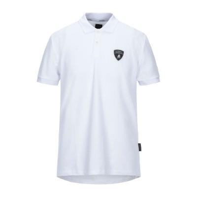 AUTOMOBILI LAMBORGHINI ポロシャツ ホワイト S コットン 100% ポロシャツ