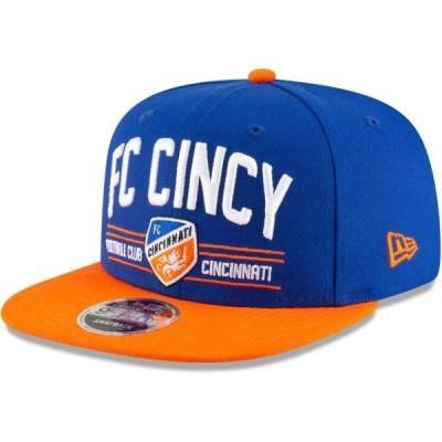 ユニセックス スポーツリーグ サッカー FC Cincinnati New Era Satin Two-Tone 9FIFTY Snapback Adjustable Hat - Blue/Orange - OSFA 帽子