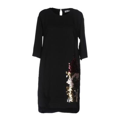 フーズフー WHO*S WHO ミニワンピース&ドレス ブラック 42 ポリエステル 88% / ポリウレタン 12% ミニワンピース&ドレス