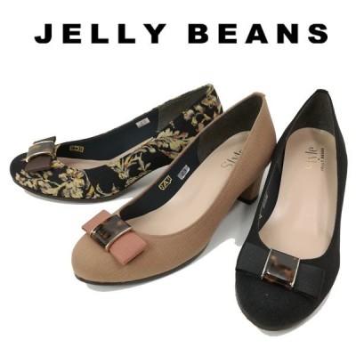 ジェリービーンズ JELLY BEANS リボン パンプス べっ甲 レディース 8172-070-100-800