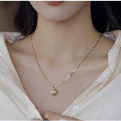 韓国スタイル エレガント 美しく 上品 シンプル アクセサリー ネックレス レディース 首飾り 小物