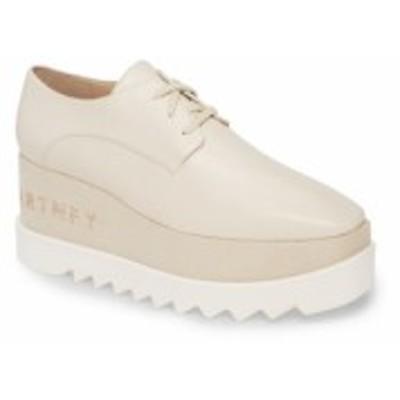 ステラ マッカートニー STELLA MCCARTNEY レディース スニーカー ウェッジソール シューズ・靴 Embellished Platform Wedge Sneaker Milk