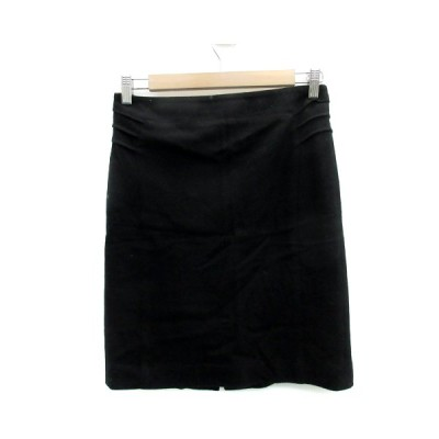 【中古】アイシービー iCB スカート タイト ひざ丈 無地 ウール 11 黒 ブラック /YS5 レディース 【ベクトル 古着】