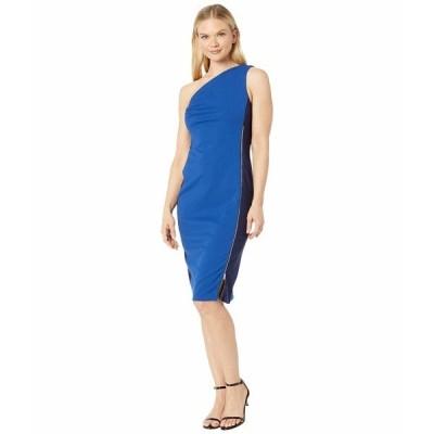 ECI ワンピース トップス レディース One Shoulder Two-Tone Sheath Dress Blue/Navy