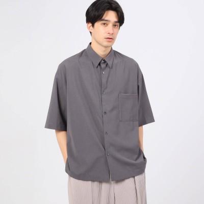 ティーケー タケオ キクチ tk.TAKEO KIKUCHI 【WEB限定】COOL MAX(R)ポリトロ抗菌ビッグシャツ(ユニセックスアイテム) (グレー)
